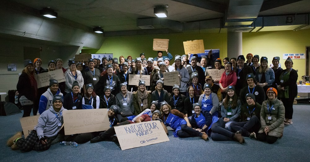 CEOs sleep out to help end homelessness
